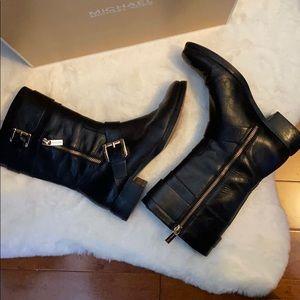 Michael Kors Gansevoort Flat Boot Black Leather